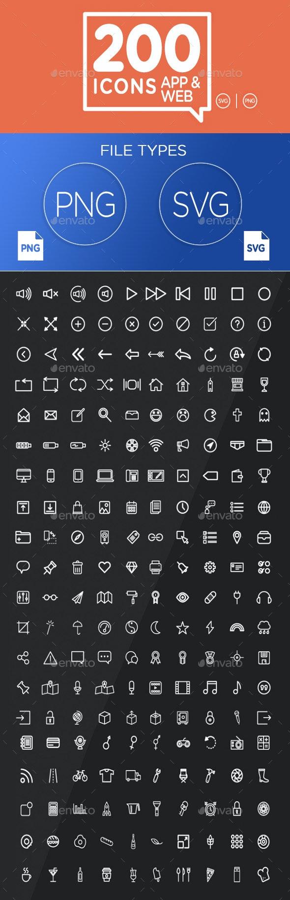 200 Premium Icons - Icons