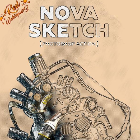 Nova Sketch Photoshop Action