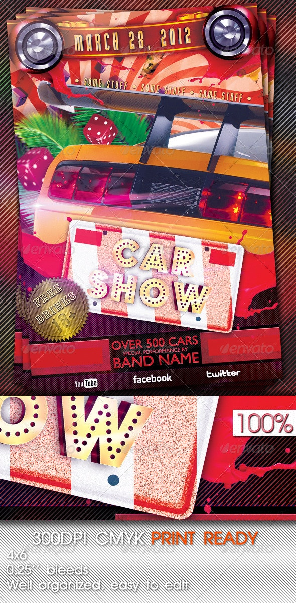 Car Show Flyer Template - Miscellaneous Events