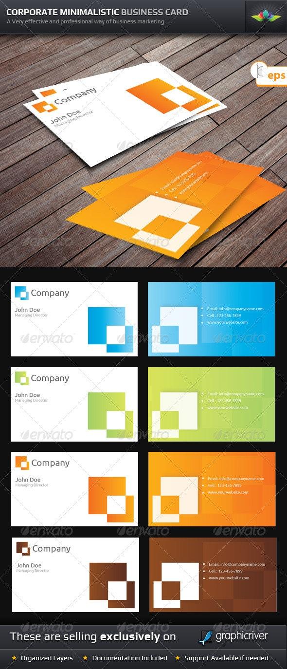 Corporate Minimalistic Business Card - Corporate Business Cards