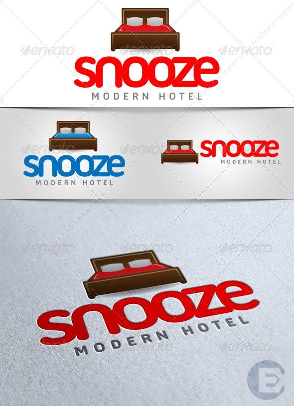 'Snooze Hotel' Logo - Symbols Logo Templates