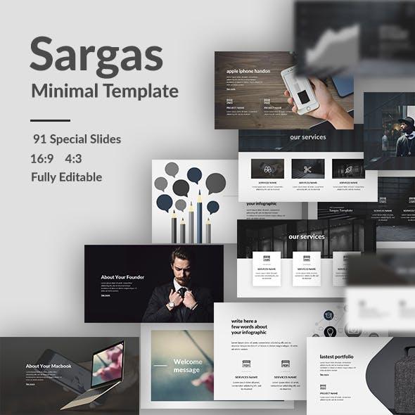 Sargas - Minimal Google Slide Template