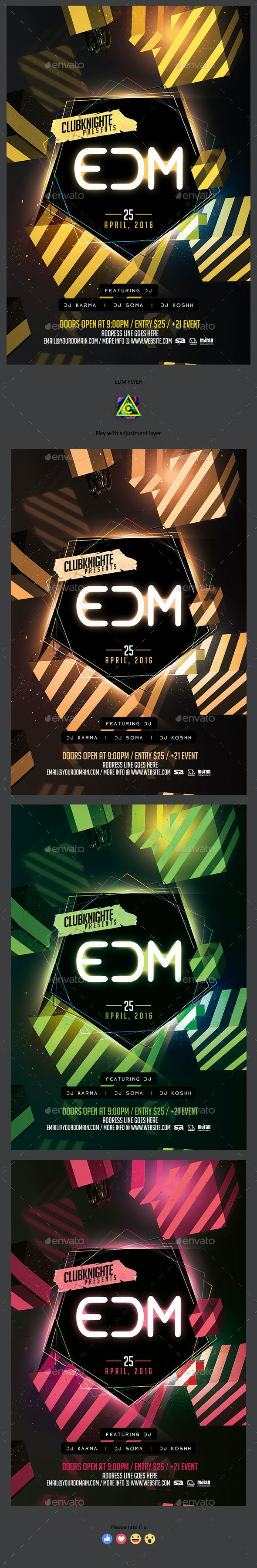 EDM Night Flyer - Clubs & Parties Events