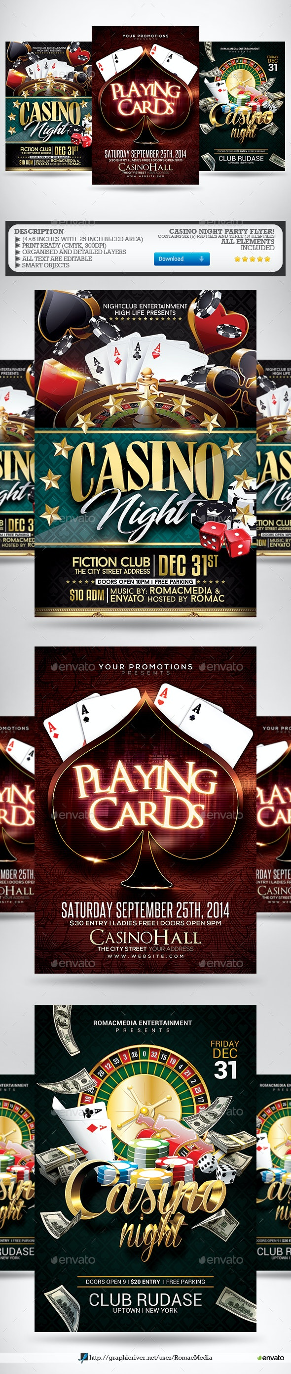 Casino Night Flyer Bundle - Clubs & Parties Events