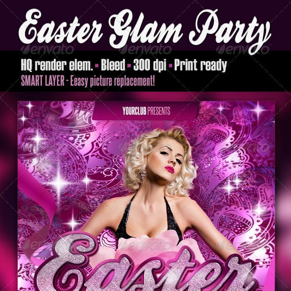 Easter Glam Party Flyer