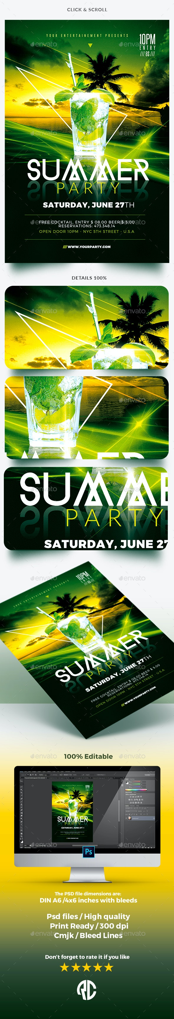 Classy Summer Party - Templates - Clubs & Parties Events