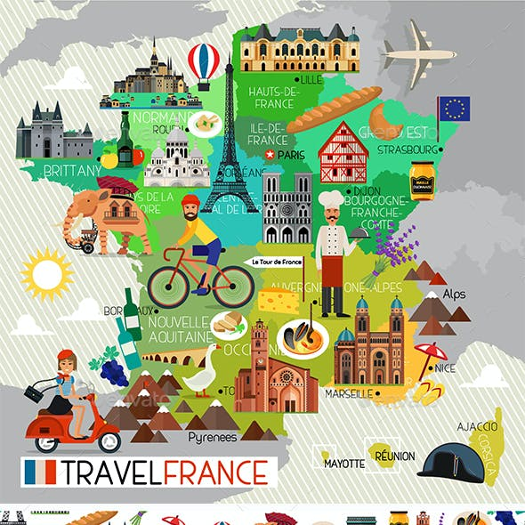 France Travel Set