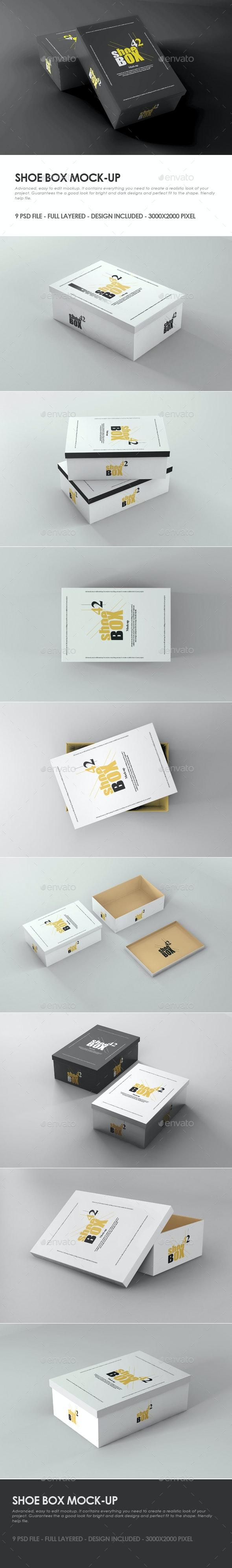 Shoe Box Mock-up - Packaging Product Mock-Ups