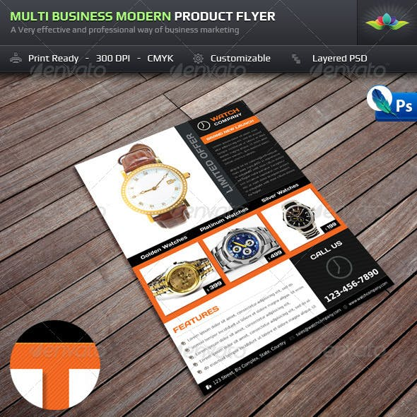 Multi Business Modern Product Flyer