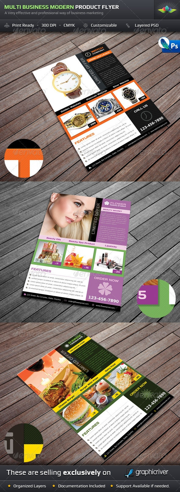Multi Business Modern Product Flyer - Corporate Flyers