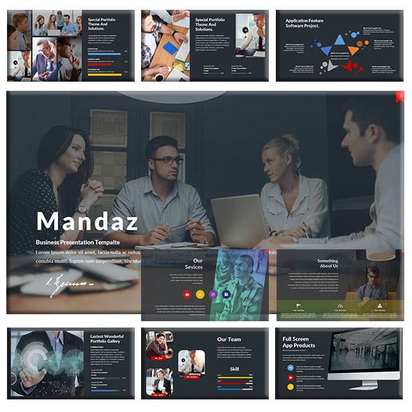 Mandaz - Creative Keynote Template