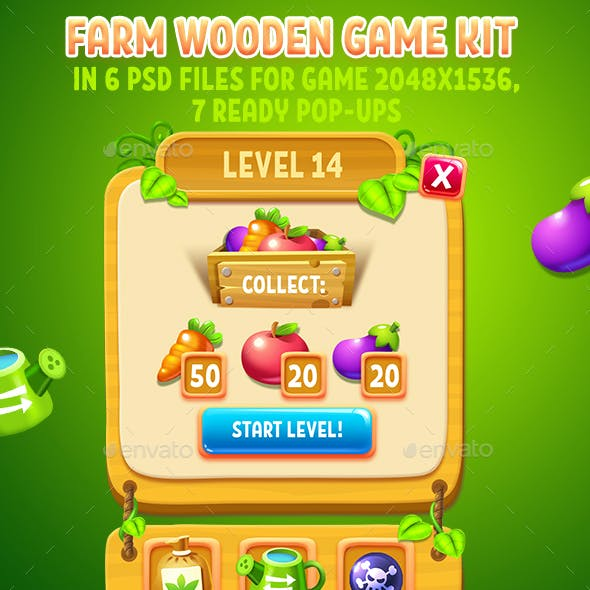 Farm Story Wooden GUI Kit