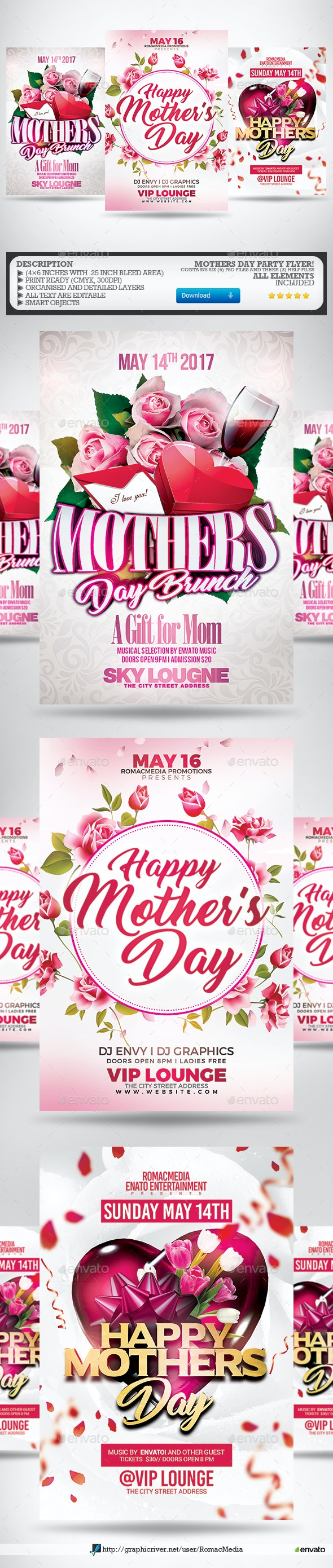 Mothers Day Flyer Bundle - Clubs & Parties Events