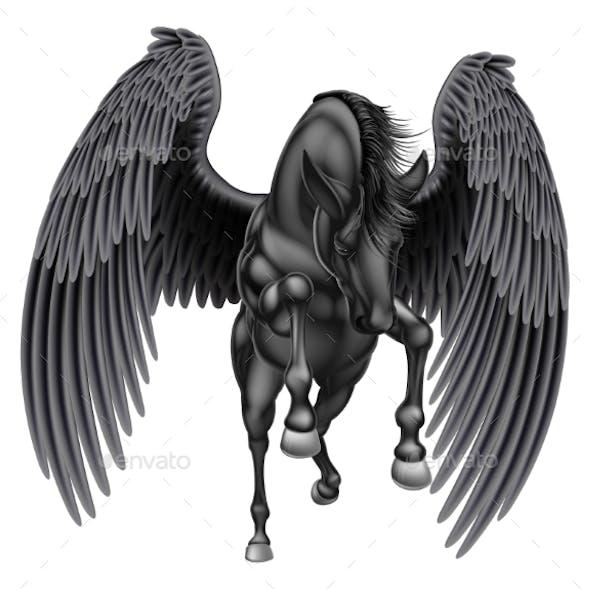 Black Pegasus Winged Horse