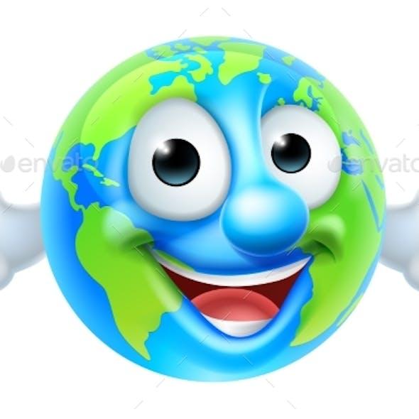Earth Day Thumbs Up Mascot Cartoon Character