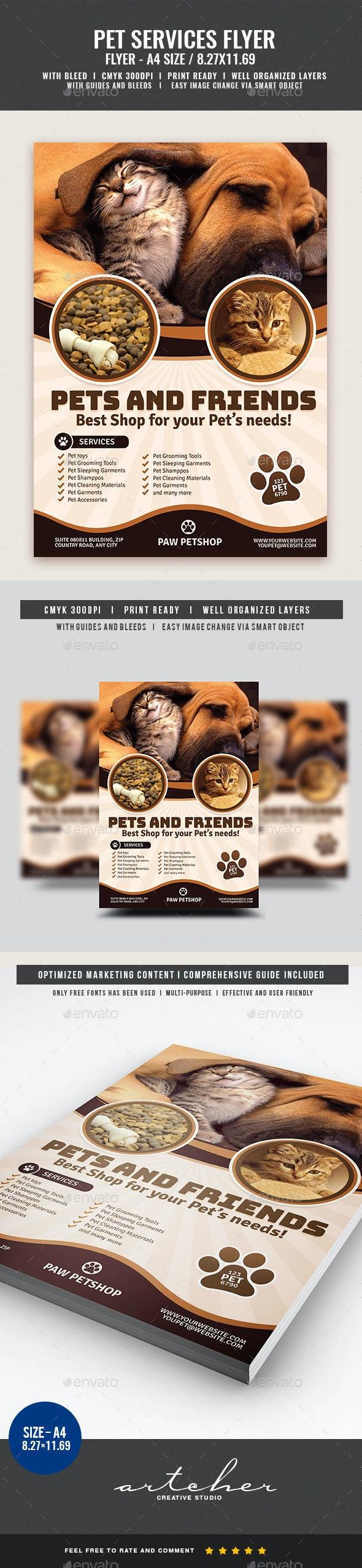Pet Store Supplies Flyer - Commerce Flyers