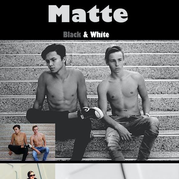 Matte B&W Photoshop Action