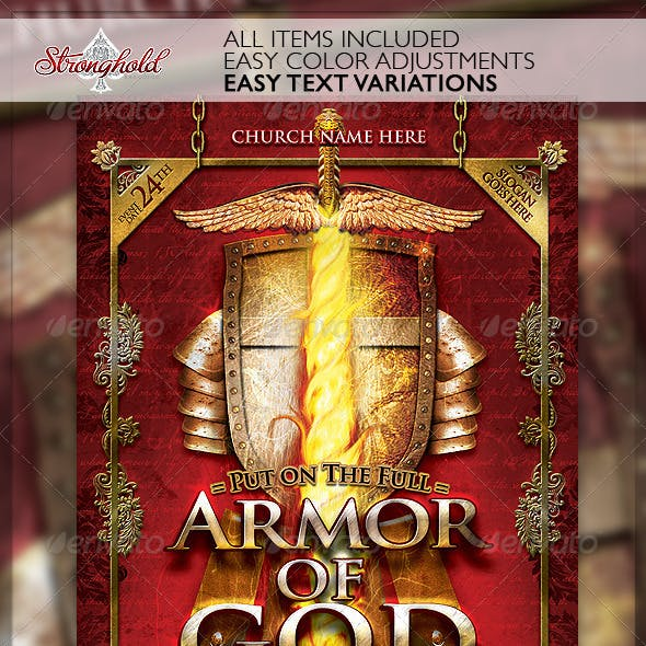 Armor of God Flyer Template