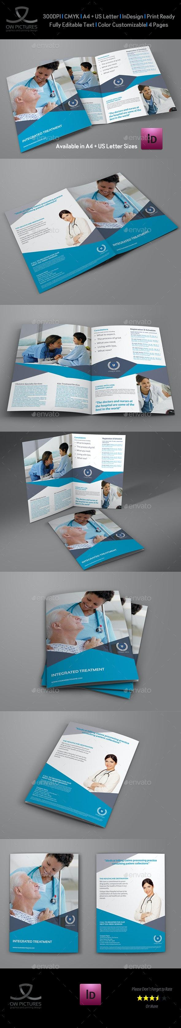 Medical Care Bi-Fold Brochure Template - Brochures Print Templates