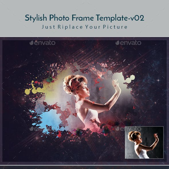 Stylish Photo Frame Template v02
