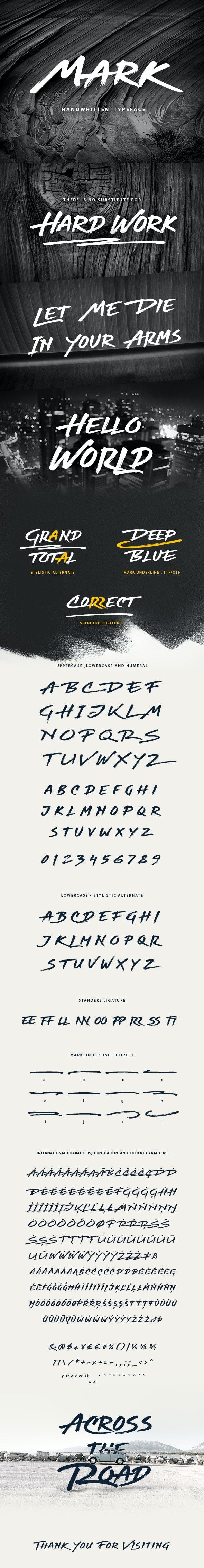 Mark Handwritten Graffiti Font - Handwriting Fonts