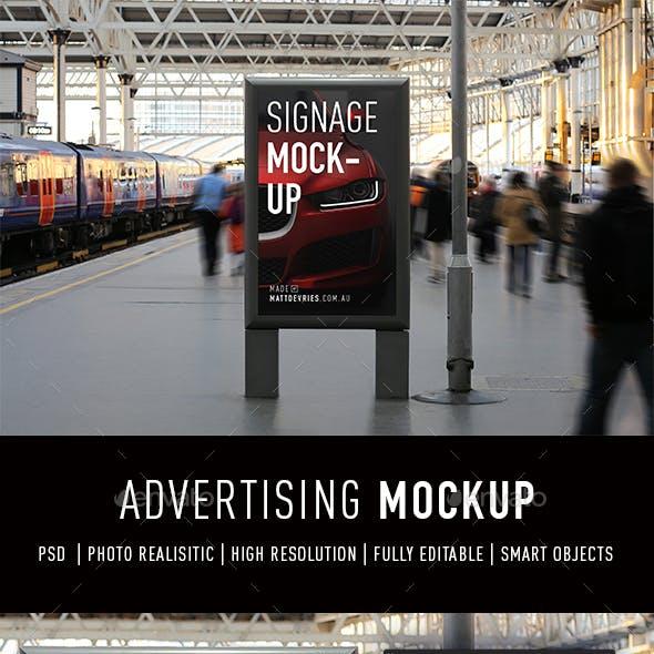 Smart Advertising Signage Mockup PSD Template