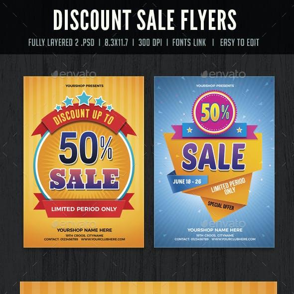 Discount Sale Flyers