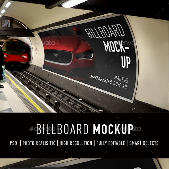 Smart Billboard Advertising Mockup PSD Template