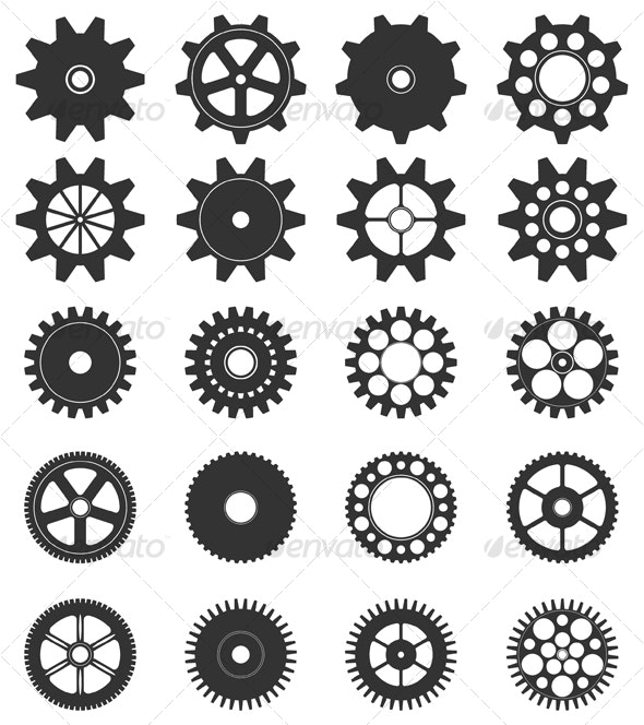 Vector Gear Collection - Man-made Objects Objects