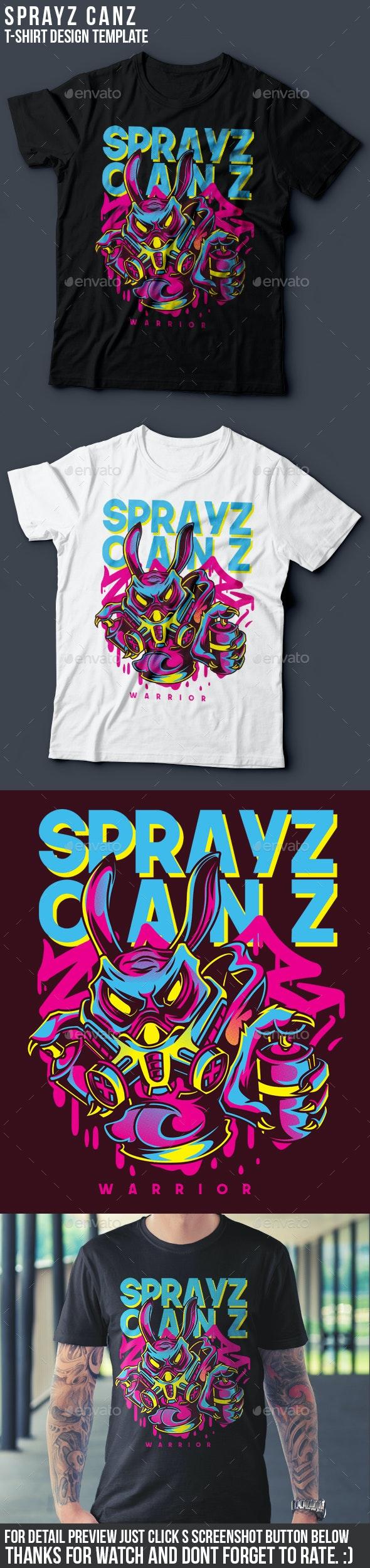 Sprayz Canz T-Shirt Design - Funny Designs