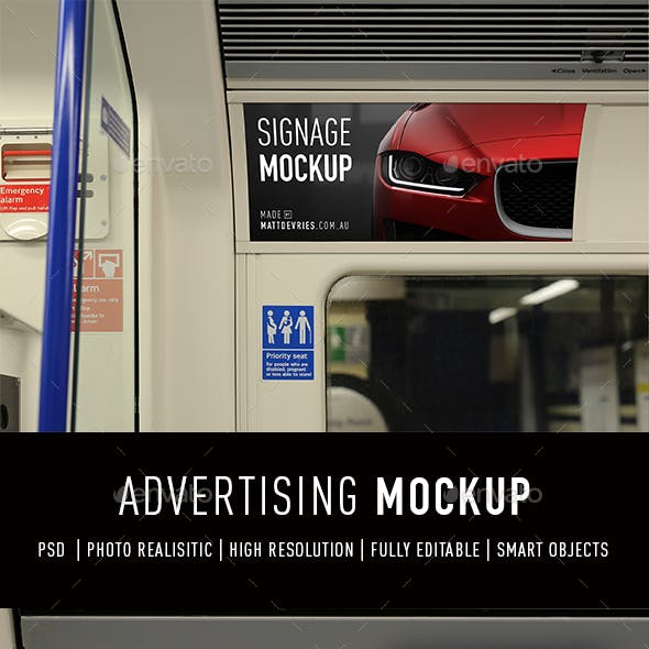 Smart Signage Advertising Mockup PSD Template