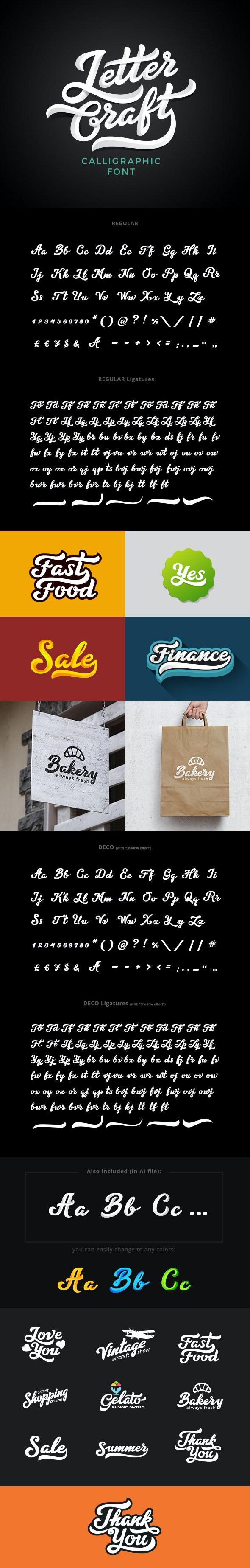 دانلود فونت انگلیسی تایپوگرافی Letter Craft Font