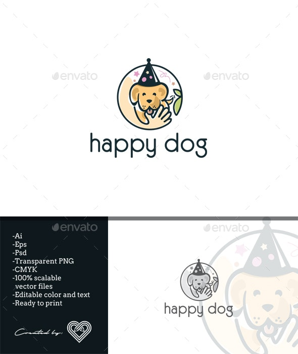 Happy Dog - Animals Logo Templates