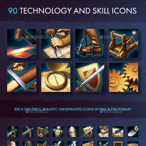 Technology and Skill Icons