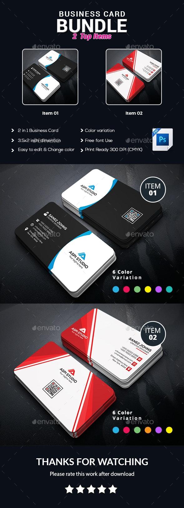 Simple Cards Set - Corporate Business Cards