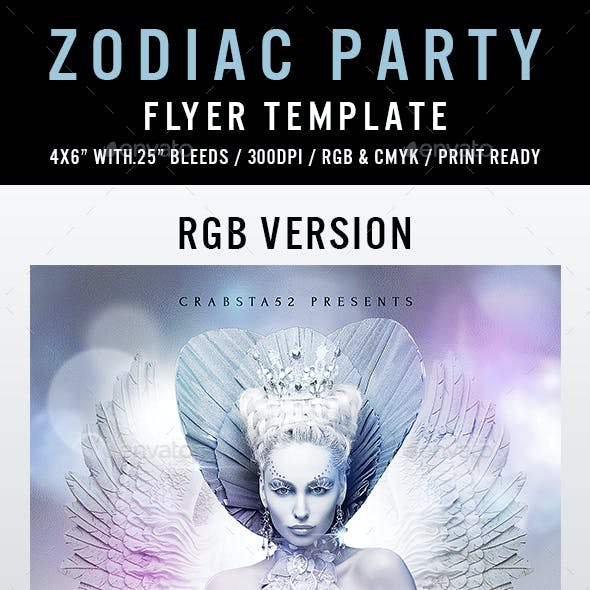 Zodiac Party Flyer Template