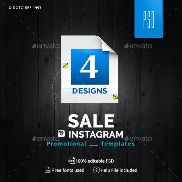 Spring Sale Instagram Templates - 4 Designs