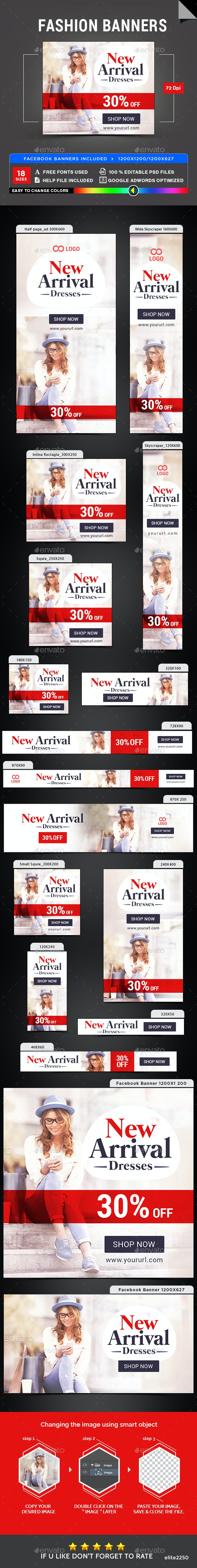 Fashion Banners - Banners & Ads Web Elements