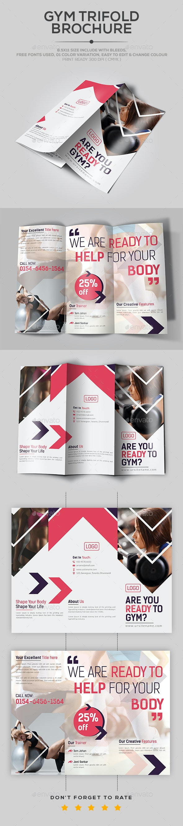 Gym TriFold Brochure - Catalogs Brochures