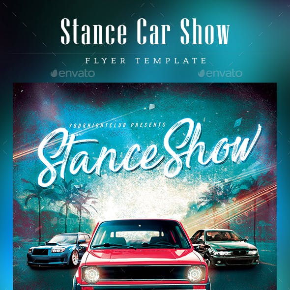 Stance Car Show Flyer
