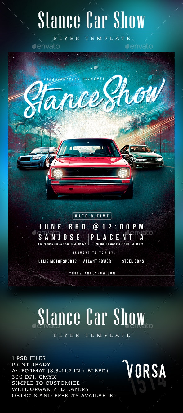 Stance Car Show Flyer - Events Flyers