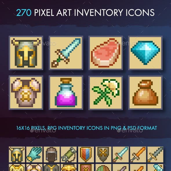 Pixel Art Inventory Icons - 16x16
