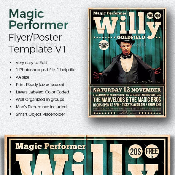 Magic Performer Flyer Template V1