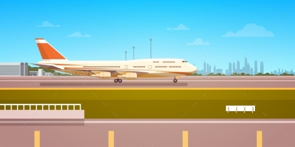 Airport Terminal with Aircraft - Travel Conceptual