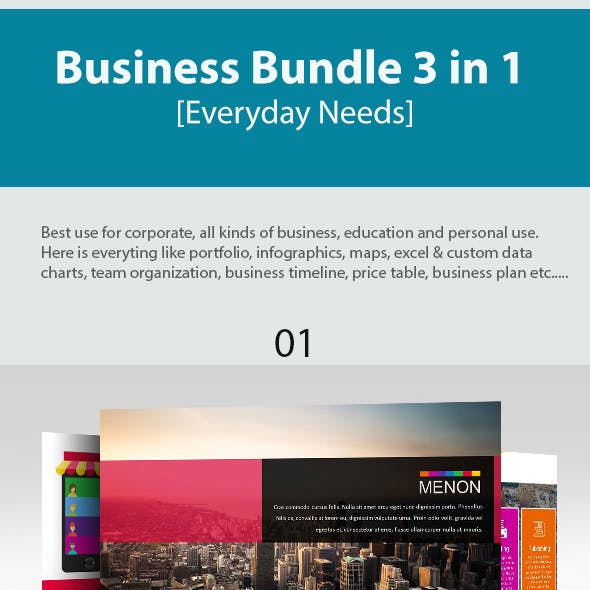 Business Bundle 3 in 1 Everyday Needs Presentation