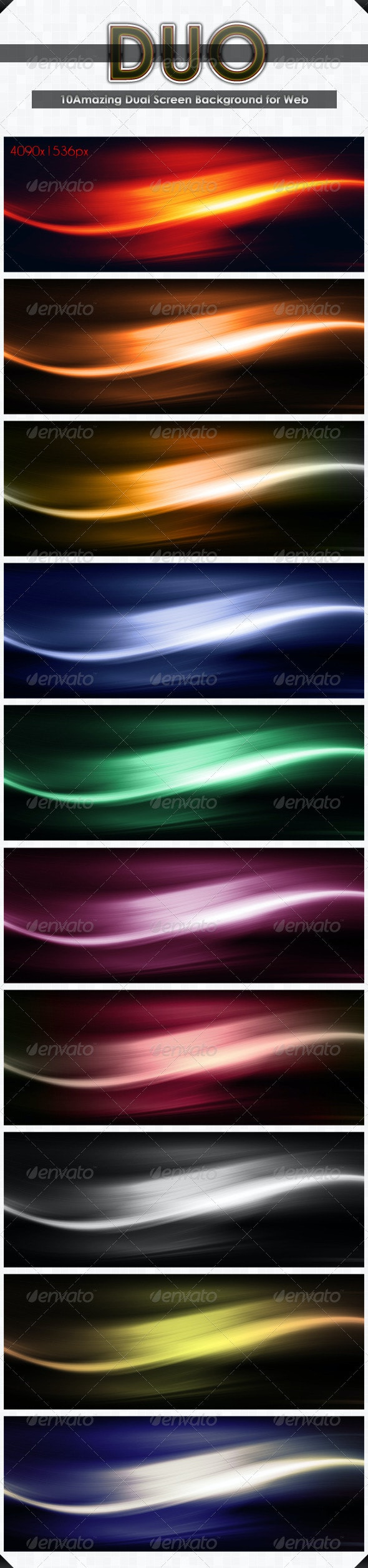 10Hi-Res Dual Screen  Background for Web - Abstract Backgrounds