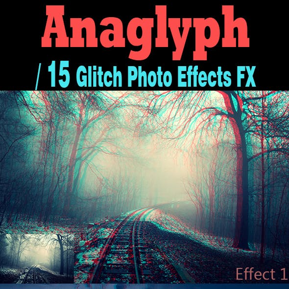 15 Anaglyph-Glitch Effects Action