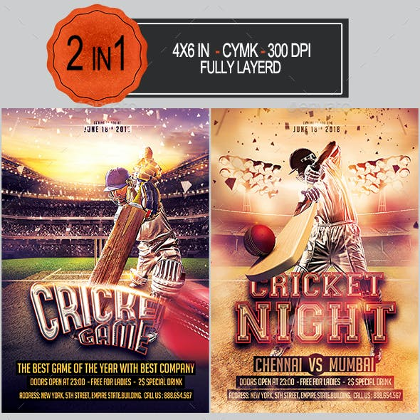 Cricket Flyer Bundle