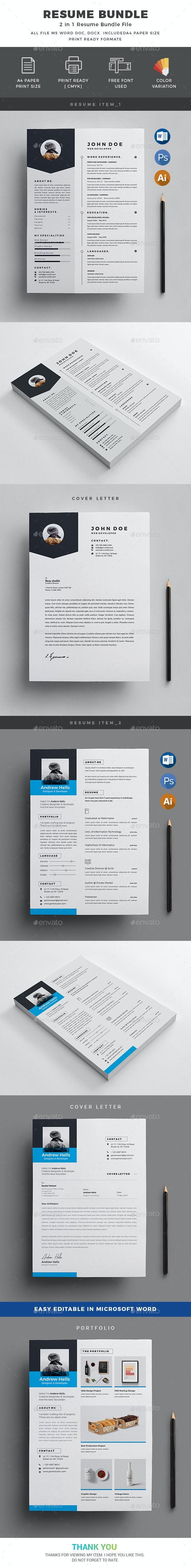 Resume Bundle_2 in 1 - Resumes Stationery