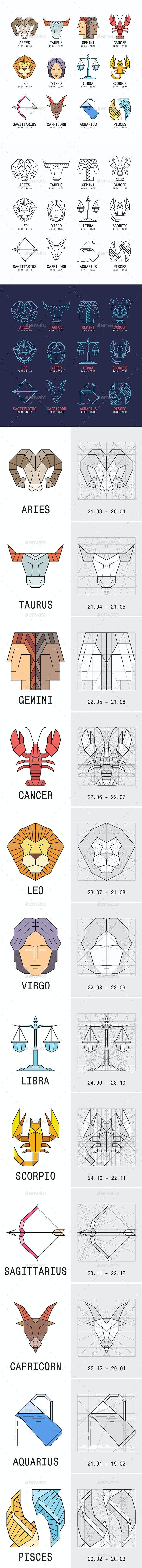 Zodiac Signs - Miscellaneous Vectors